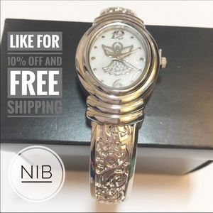 NIB Avon Silver Embellished Quartz Watch